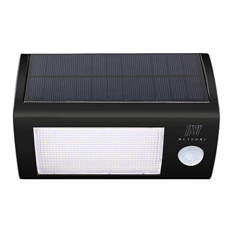 NetBoat 24 LED Foco Solar con Sensor de Angulo Ancho Focos LED Exterior Protección Ambiental y