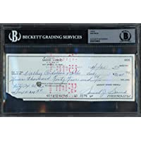 $59 » Sam Snead Autographed 3x8 Check Signed In Blue Beckett BAS #10734633 - Beckett Authentication - Golf Cut Signatures