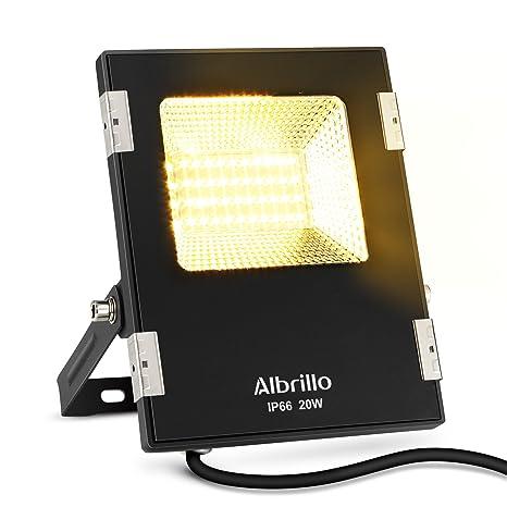 Albrillo LED Luz de inundación de seguridad 30W, Luces de inundación del sensor de movimiento