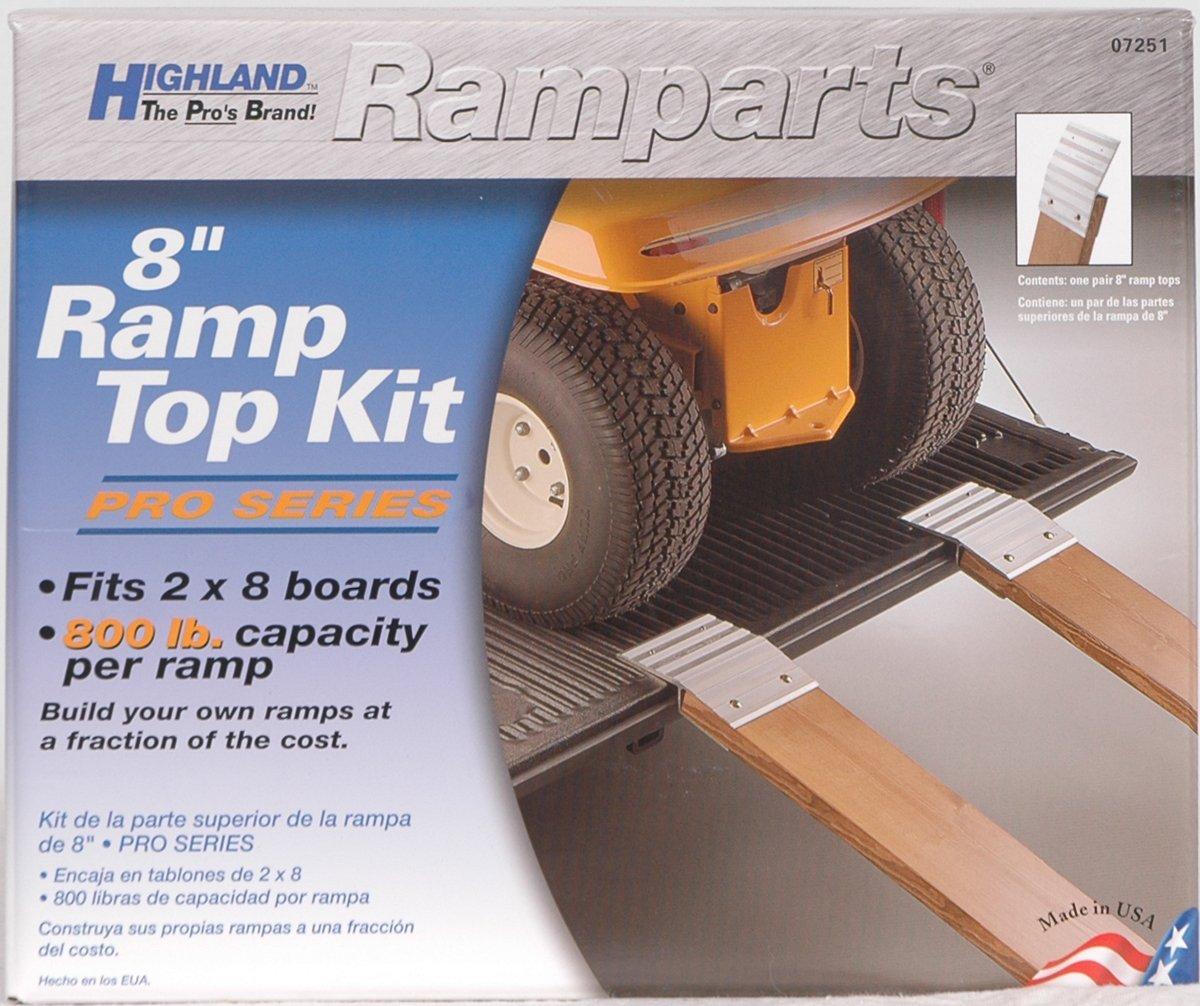 Highland 0725100 2 Piece BLK:07251 Ramparts 8 Professional Series Aluminum Ramp Top Kit