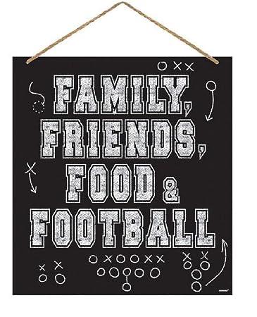 Amscan - Cartel de Familia, Amigos, Comida y fútbol: Amazon ...