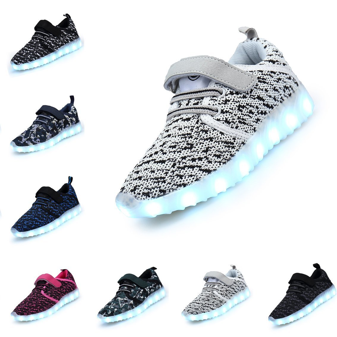 Motaierly Kids Boys Girls Breathable LED Light Up Shoes Flashing Sneakers