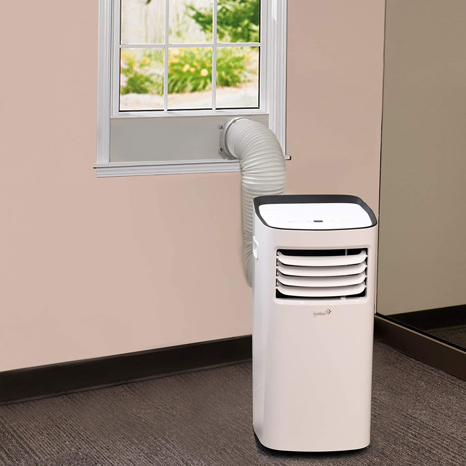 Ivation Portable Air Conditioner - Compact Single-Hose AC