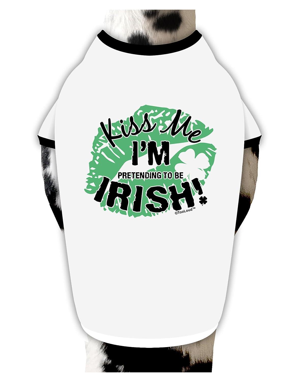 ec678de4e082 Amazon.com : TooLoud I'm Pretending to Be Irish Dog Shirt White with Black  XL : Pet Supplies