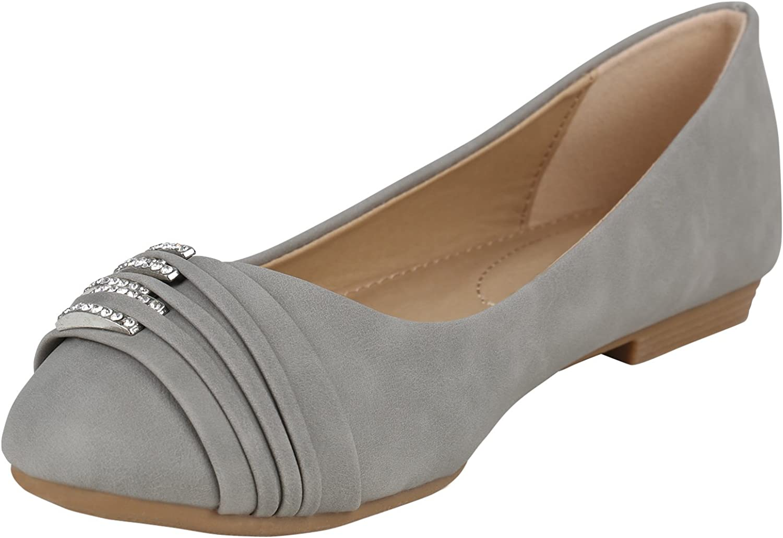 Stiefelparadies Women/'s Ballet Flats