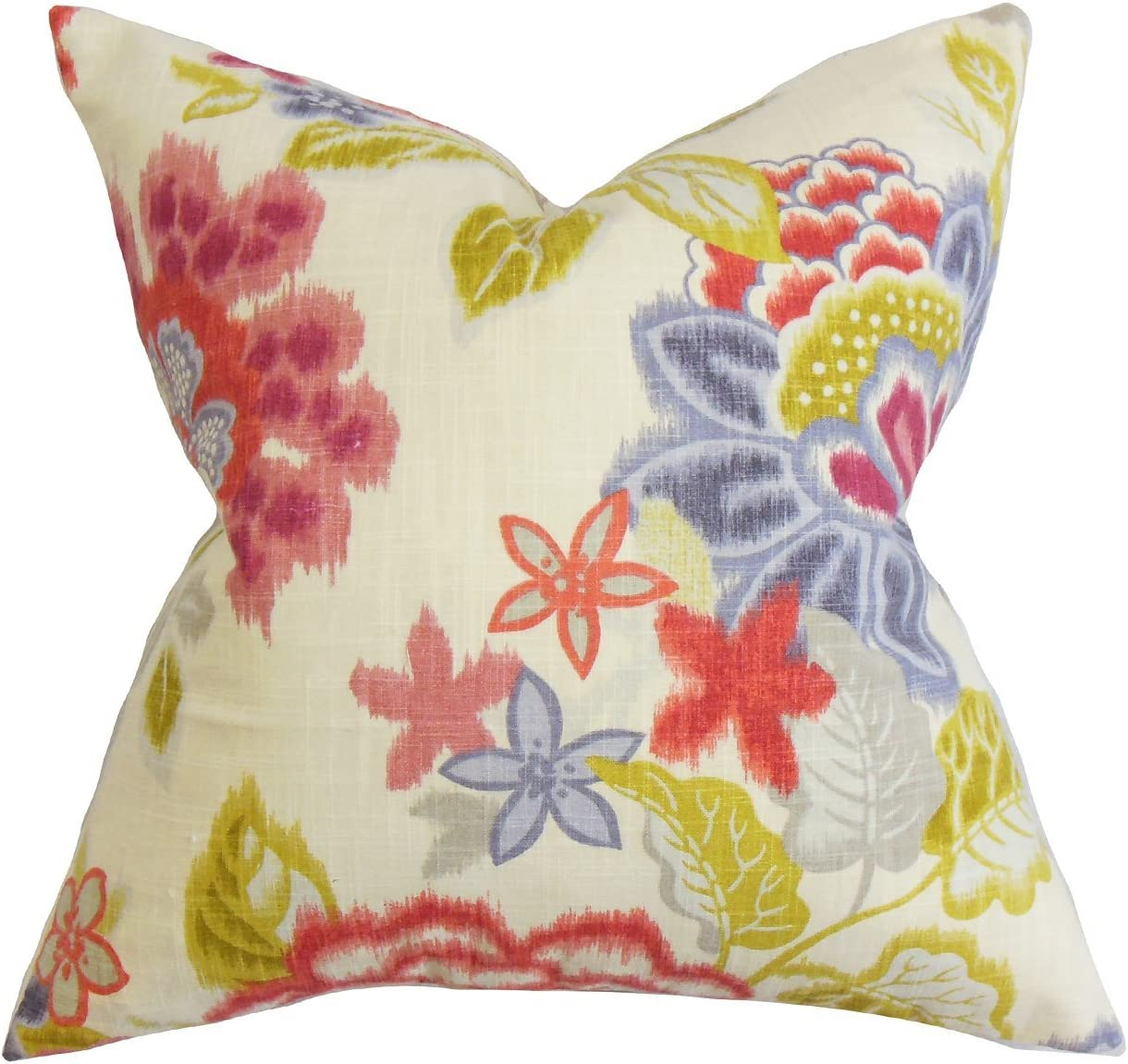Amazon Com The Pillow Collection Vasant Floral Bedding Sham Pink Standard 20 X 26 Home Kitchen