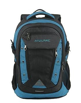MULPAC - Mochila para ordenador portátiles para estudiantes universitarios azul Black and Blue: Amazon.es: Electrónica