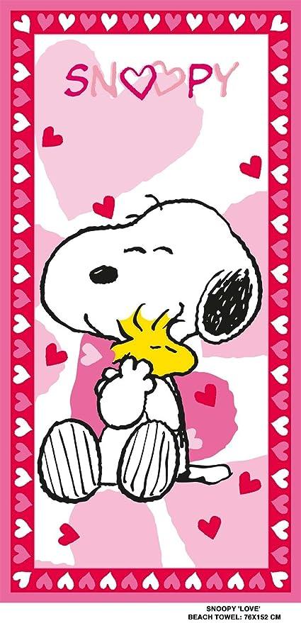 Snoopy 5414629158113 - Toalla de playa (70 x 140 cm), diseño de Snoopy