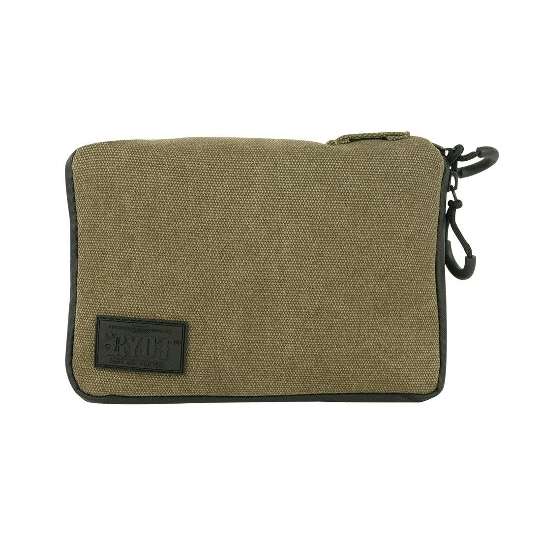 RYOT PackRatz Case - Carbon Series with SmellSafe and Lockable Technology (Olive, Medium)