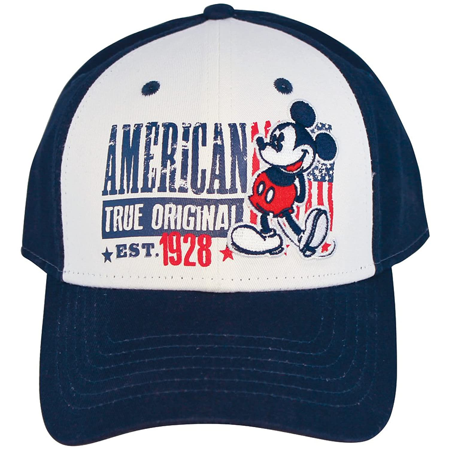 Amazon.com: Disney Mickey Mouse American True Original Est 1928 100% Cotton Baseball Cap: Clothing