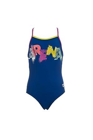 Arena Girls Carnival Swimming Costume Bluefuchsia 14 15 Years