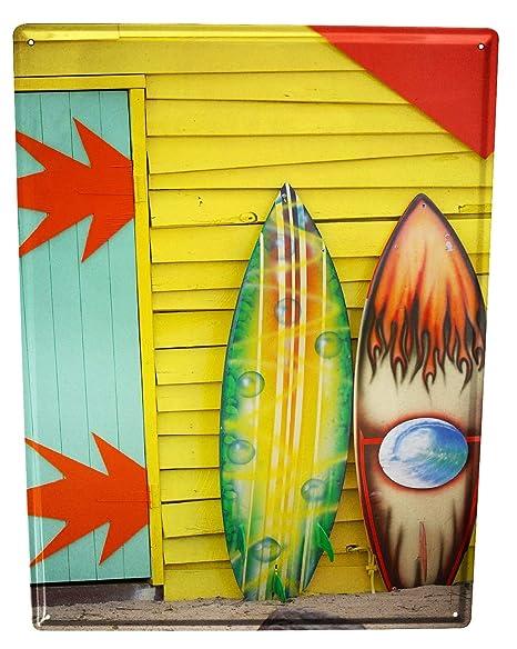 Cartel Letrero de Chapa Gira Mundial Graffiti tabla de surf ...