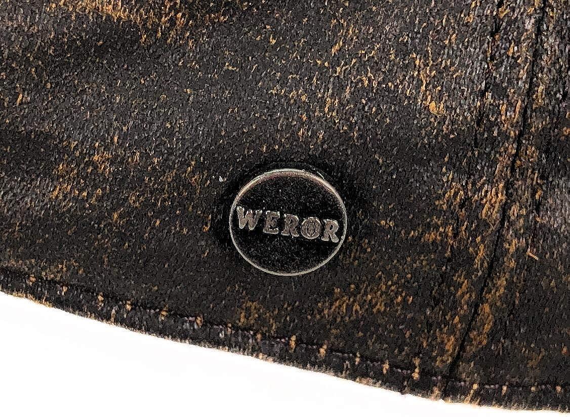 WEROR Herren /& Damen Flatcap Schieberm/ütze Cap M/ütze WEROR-170.1