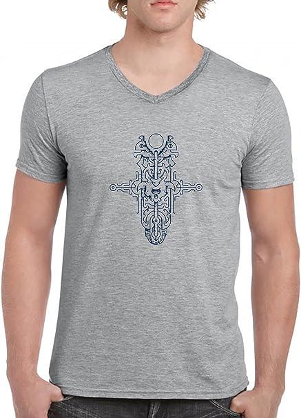 Mago Tatuaje V-Cuello Camiseta Para Hombre Gris Todos Los Tamaños ...