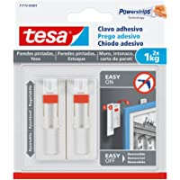 Tesa Clavo adhesivo ajustable, ideal para cuadros,