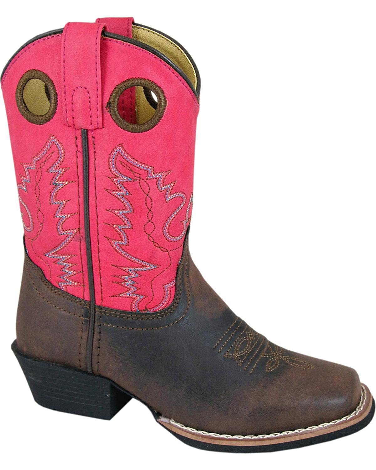 Smoky Mountain Girls Memphis Western Boot Square Toe Brown 4 D M US
