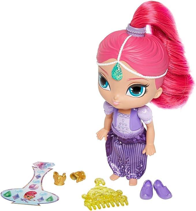Mattel,Mattel,Shimmer & Shine, Shimmer 6 inch Doll, Pink Hair and Accessories,Mattel,DLH56