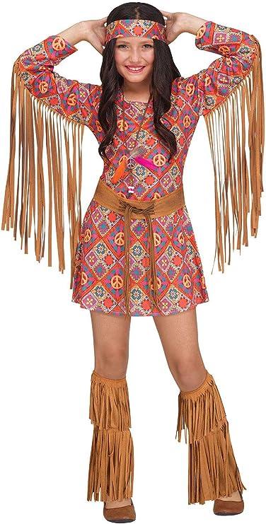 60s 70s Kids Costumes & Clothing Girls & Boys Fun World Girls Free Spirit Costume $36.20 AT vintagedancer.com
