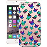 Customizable Hamee Original Designer Cover Thin Fit Crystal Clear Plastic Hard Back Case for Apple iPhone 6 / 6s (Blue Birds)