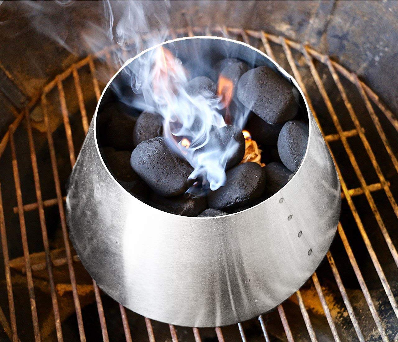 LUTANI BBQ Kettle Grills 22 26.75 WSM - Stainless Steel BBQ Kettle Grill Accessories - Charcoal Kettle Accessory by LUTANI