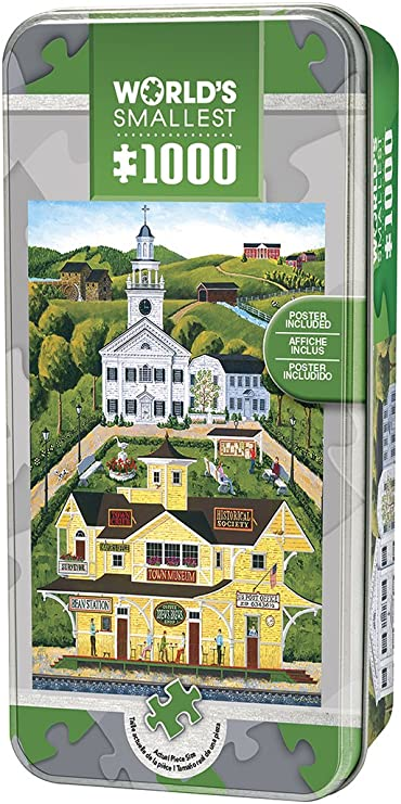 Small Town 1000 Piece Tin ... MasterPieces World/'s Smallest Bean Station Depot