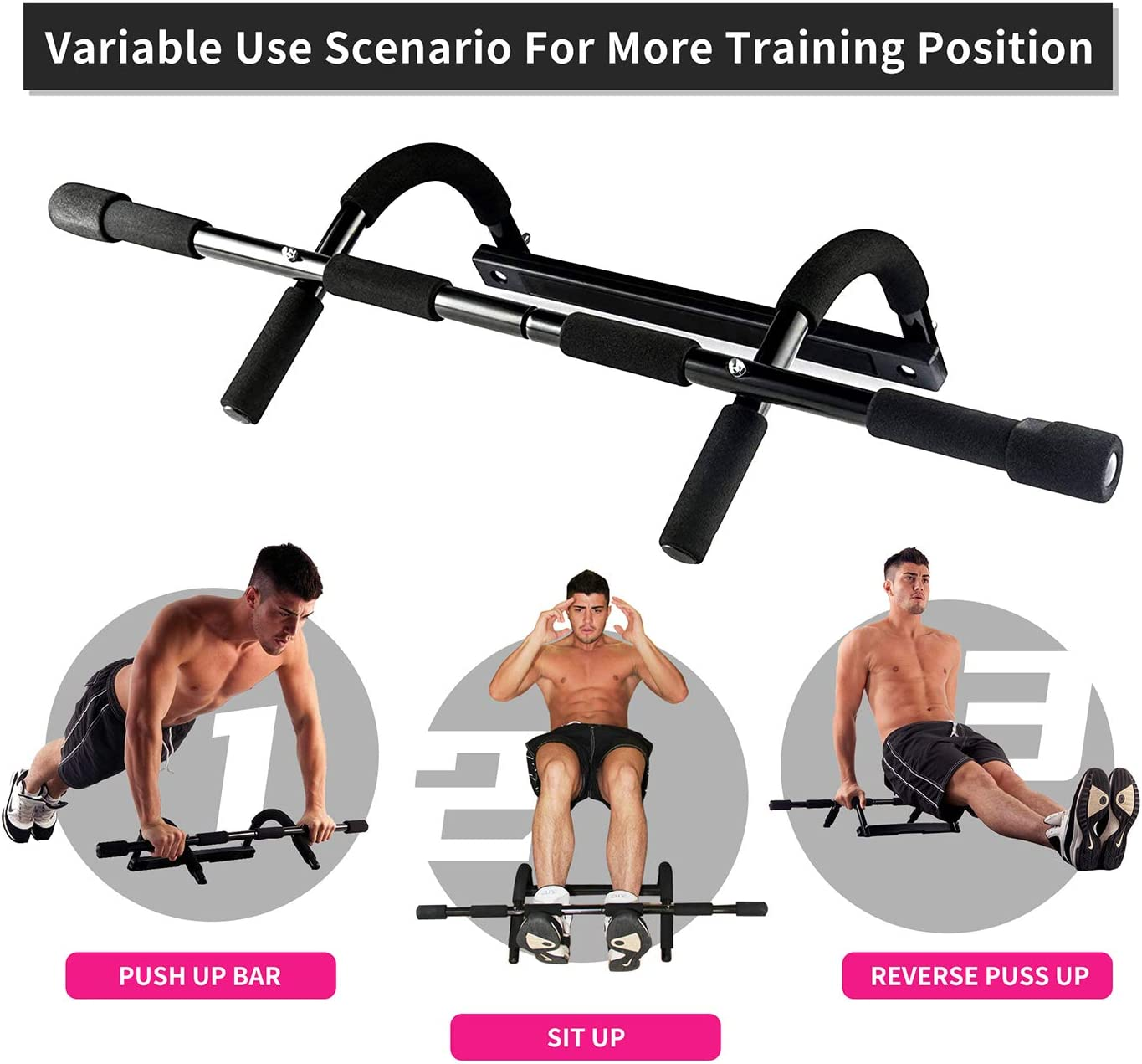 Sports & Fitness Duorime Pull up Bar for Doorway Professional ...
