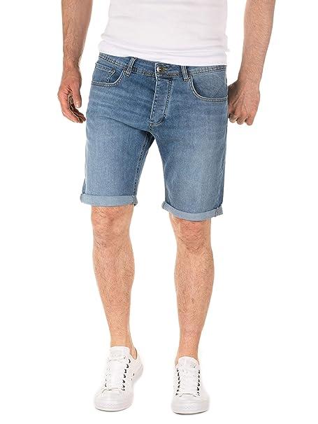 WOTEGA Hombre Pantalones Cortos Vaqueros Robin Jeans Shorts