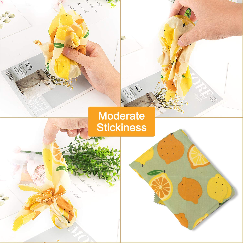 Homegoo per Uso Alimentare Cera Dapi Conservazione degli Alimenti per Sandwich Formaggio Verdura e Pane 1 Piccolo // 1 Medio // 1 Grande Involucro Riutilizzabile di Cera dapi Set di 3