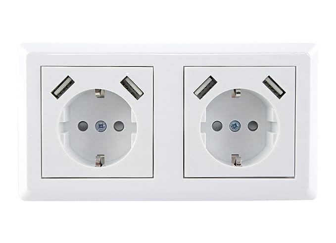 SkaizeTM UQ699 - Enchufe con cargador USB