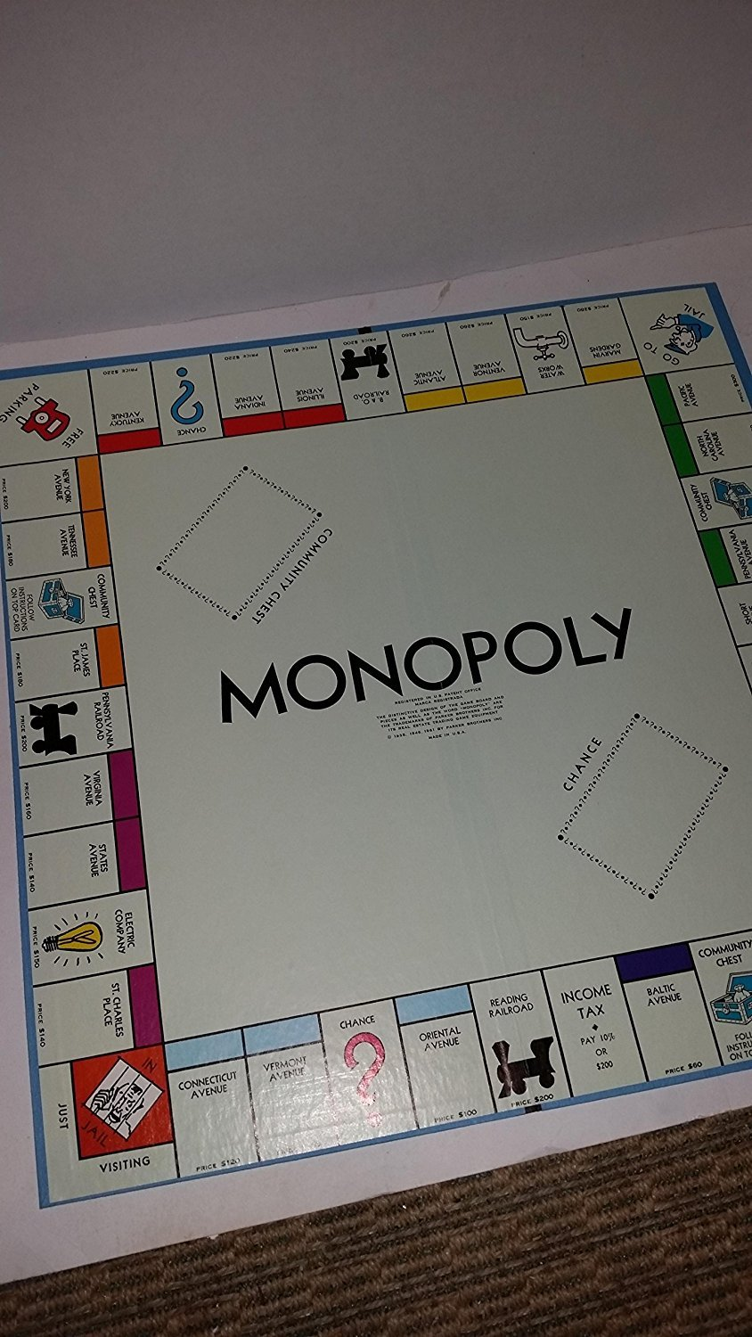 Amazon com 1973 vintage edition monopoly real estate trading game great family fun by parker brothers toys games