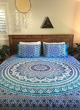 housse de couette couvre lit Hippie Hippie indien Housse de couette réversible Couvre lit fait  housse de couette couvre lit