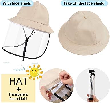 BabyEXO Bucket Hats Detachable Kids Cotton with Zipper Packable Dust Proof Suitable 4-7 Years Children