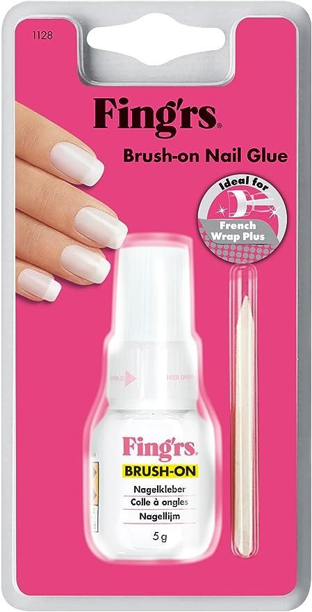 fingrs1128 Brush-On - Pegamento de uñas con cepillo para uñas ...