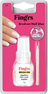 fingrs1128 Brush-On - Pegamento de uñas con cepillo para uñas postizas