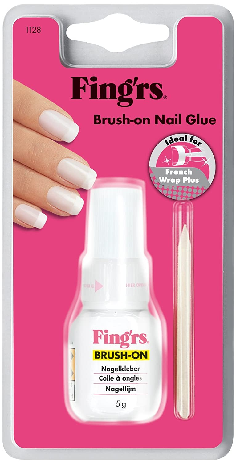 fingrs1128 Brush-On - Pegamento de uñas con cepillo para uñas ...