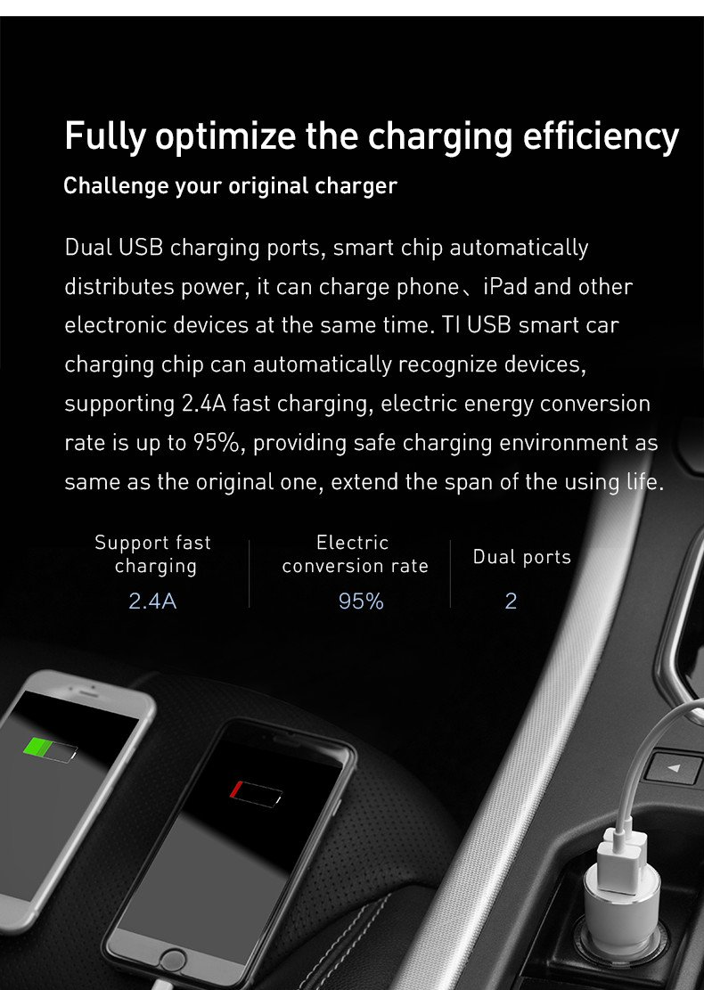APP Setting Control for Android /& IOS ROIDMI 3S 【2017 New】Wireless Music Bluetooth Car Charger Adapted for All Cars, Music Play//FM Transmitter5V 3.4A Dual USB Ports Fast Charge Black