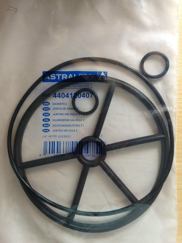 ASTRAL 4404120407 - Junta de estrella para válvula de filtro de arena