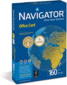 Navigator Office Premium Card 160gsm A4 Bright White - Ref PCO160F1 [250 Sheets]