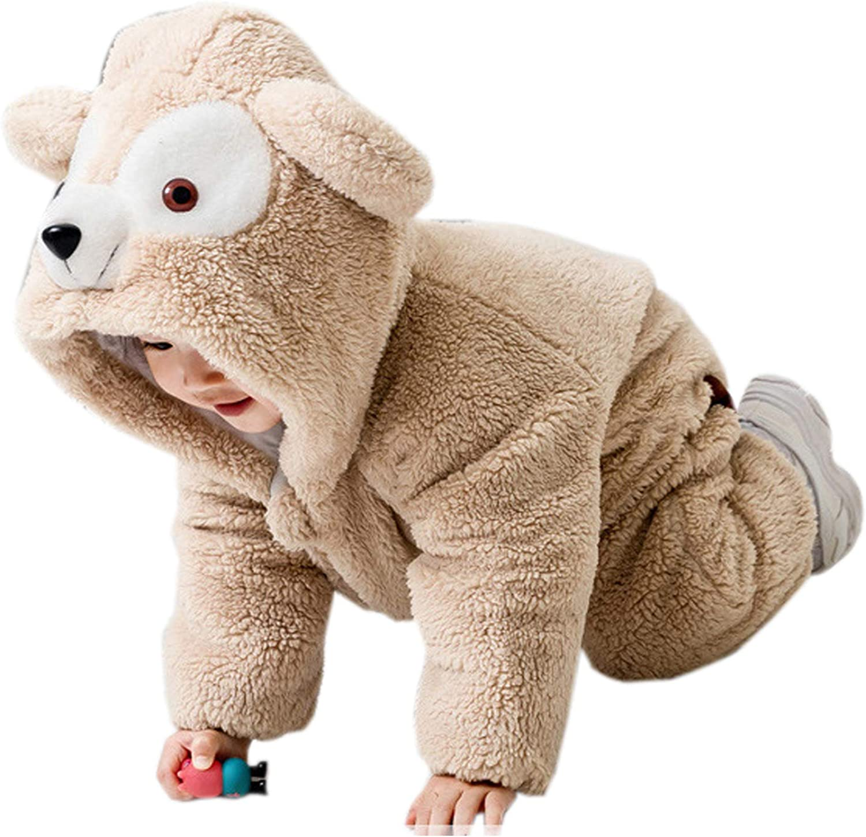 Ensemble Unisexe B/éB/é Cute Animal Barboteuse Grenouill/èRes Combinaison Pyjama avec Fermeture /éClair 0-24 Mois