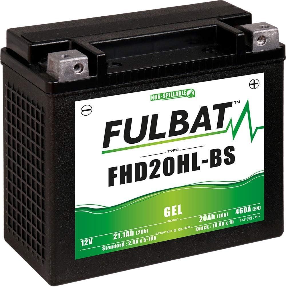 Fulbat - Batería moto Gel FHD20HL-BS/ETX20L 12V 20Ah