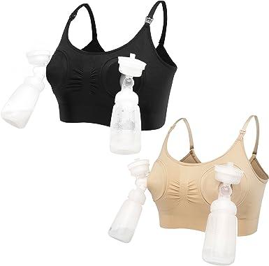 LOVELYBOBO 2 Pack Manos Libres Sujetadores Premamá y de Lactancia para Maternidad de Enfermería: Amazon.es: Ropa y accesorios