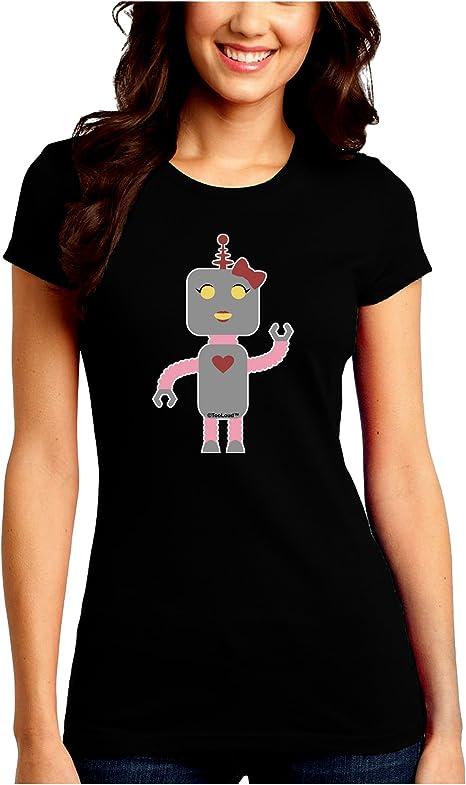 TooLoud Cute Robot Female Toddler T-Shirt