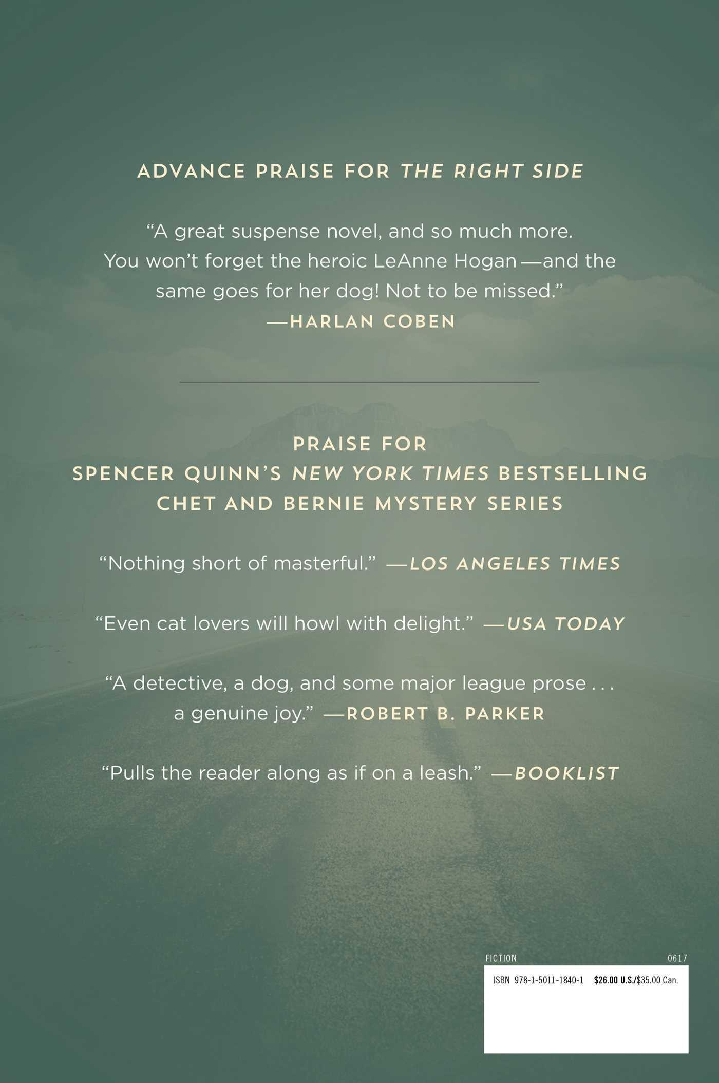 Amazon: The Right Side: A Novel (9781501118401): Spencer Quinn: Books
