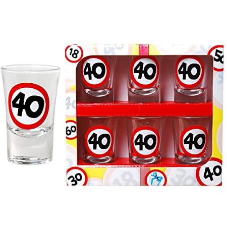 Udo Schmidt GmbH Vasos de chupito para 40º cumpleaños ...