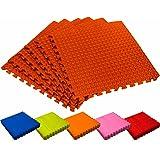 #DoYourFitness Tapis de protection de sol »PuzzleUp«/idéal pour amateurs &professionnels de sport/6 éléments emboitables de 60 x 60 x 1,2 cm (env. 2,2 m²)/Disponible en différentes couleurs
