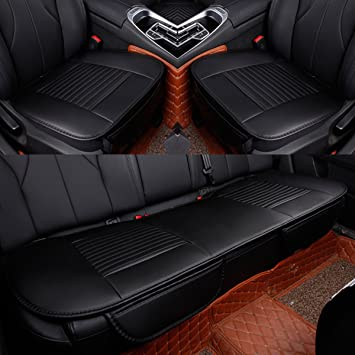 PU leather Car Seat Cover Front /&Rear Seat cushion car seat covers full set of 3