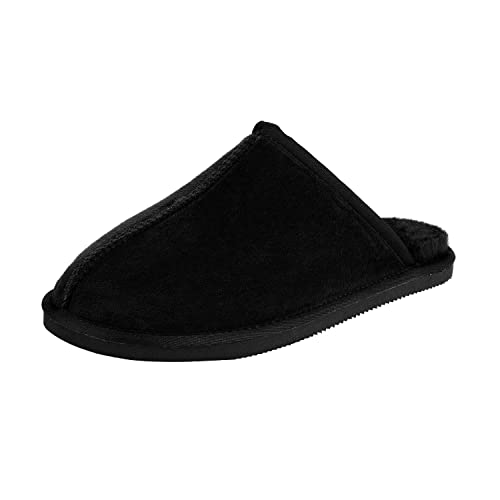 7b0a27c8f296 CLPP LI Mens Slip On Slippers - Black - 8
