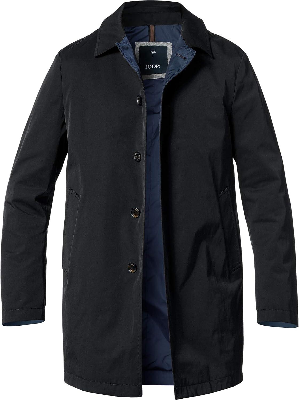 Herren Mantel Mikrofaser Warme Jacke Einfarbig Blau 48 Joop