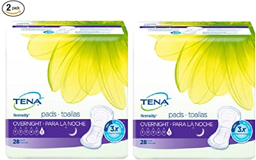 Amazon.com: Incontinence Pads For Women, Overnight, 28 Count 2 Pack: Health & Personal Care