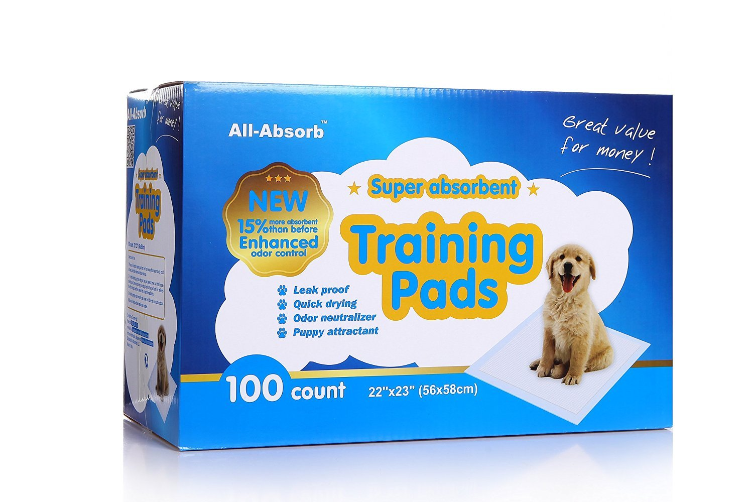 All-Absorb Training Pads 100-count, 22-inch By 23-inch 300-Count